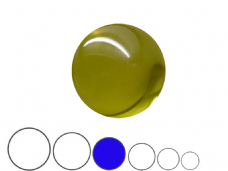 Jac Products Yellow Translucent 80mm Acrylic Contact Ball